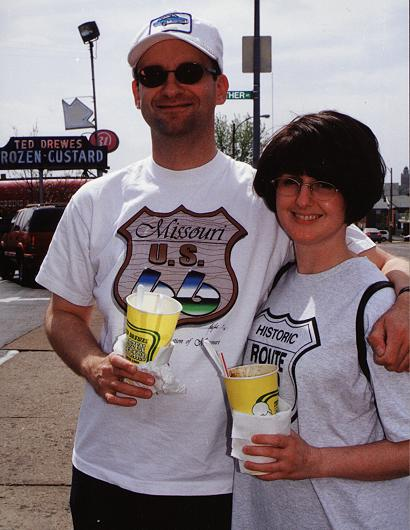 Jennifer & Pat at Ted Drewe's Frozen Custard, St. Louis, Missour
